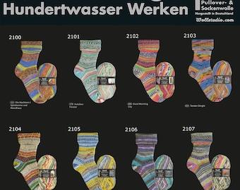 Opal Hundertwassers Werk Sock Yarn, 100g