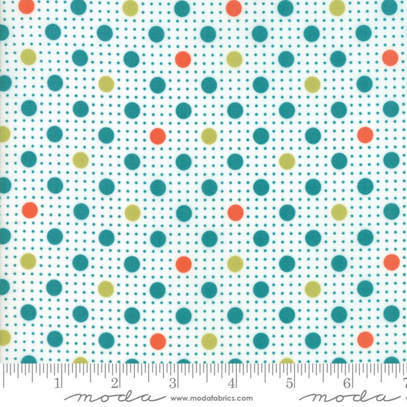 BRIGHTS Jelly Roll Moda quilt fabric BASIC MIXOLOGIE Studio M quilting sewing 2.5 x 44 strips fuschia teal orange lime dots graphic prints