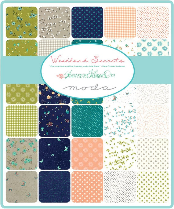 Moda Fabric Woodland Secrets Jelly Roll Patchwork Quilting 2.5 Inch Strips