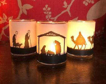 Votive Nativity Set - Ships same day!