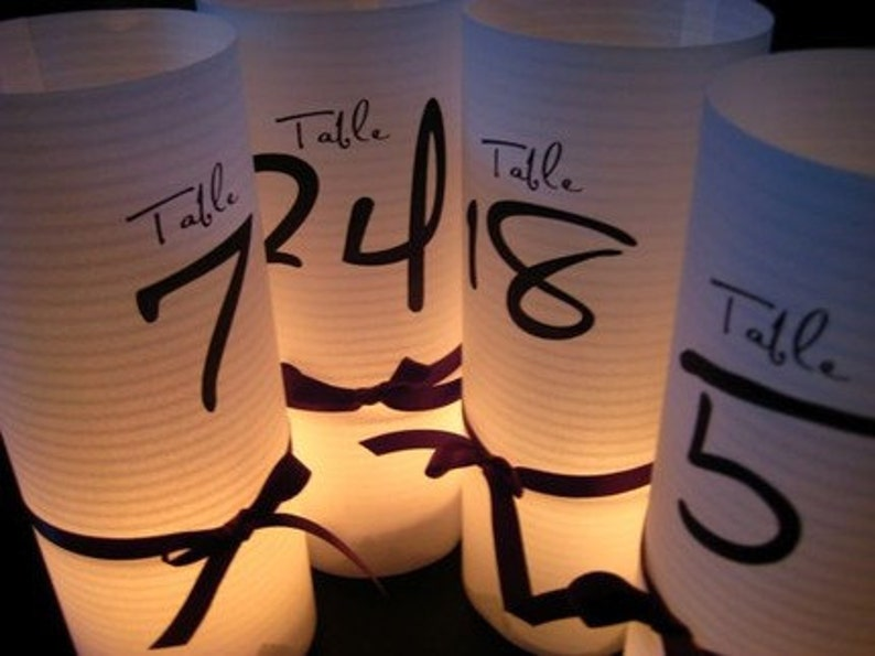 12 Luminary table numbers 8.5 inch tall Tie the image 0