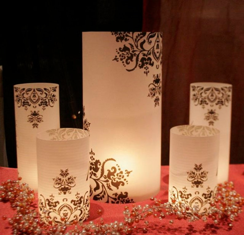 11 tall Custom Table number Luminaries for centerpieces image 0