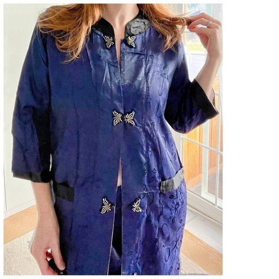 Vintage 50's Silk Handmade Asian Pajamas Loungwear