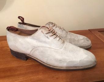 Original Lloyd Haig WWII Mens Dress White Shoes