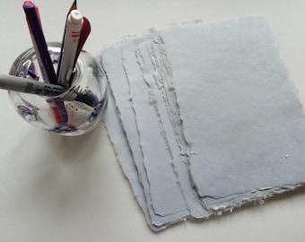 Ten sheets of fog handmade abaca kozo paper