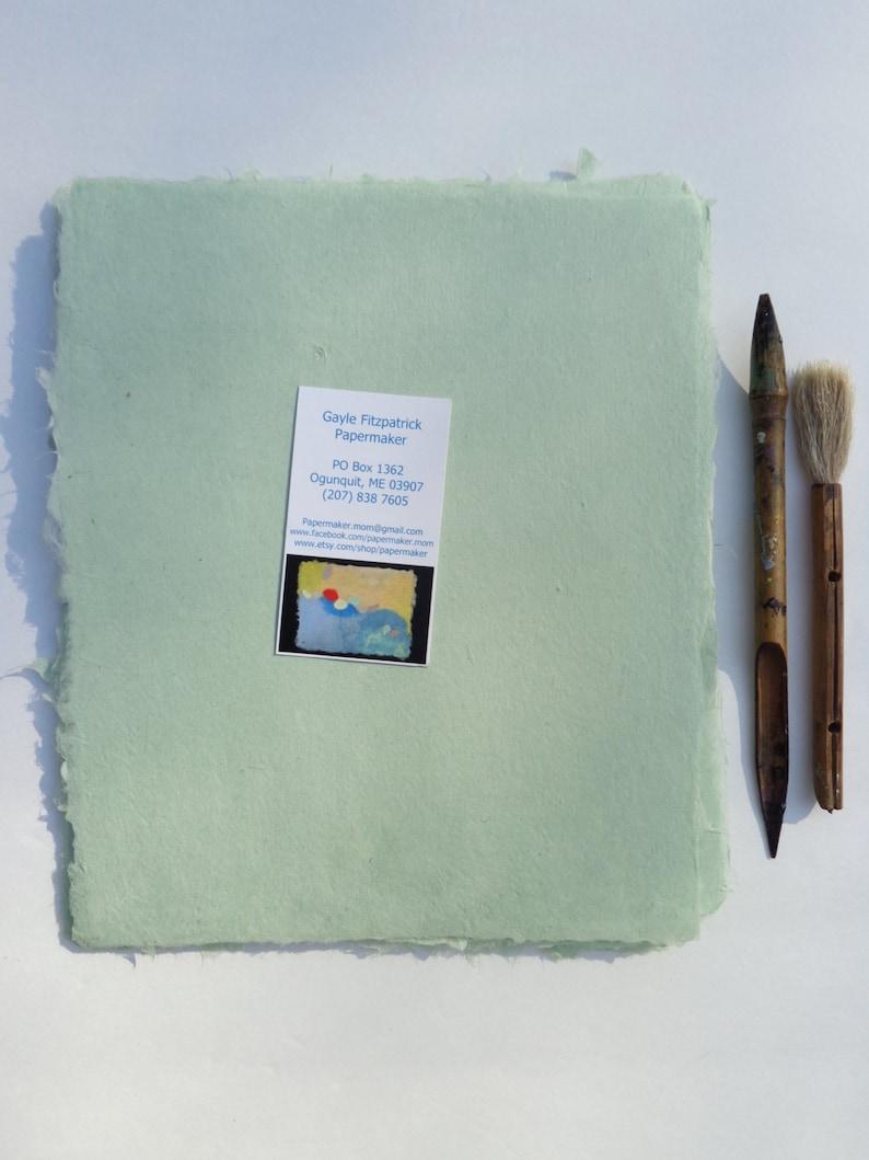 NEW Eight Sheets of Handmade Celadon Abaca Kozo Paper