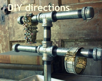 DIY build your own SMALL industrial chic jewelry display stand - {PDF directions}