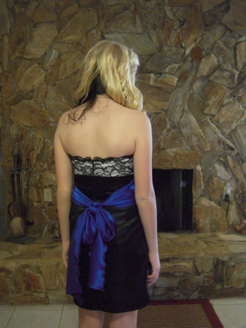Satin and Lace and a tie of Royal