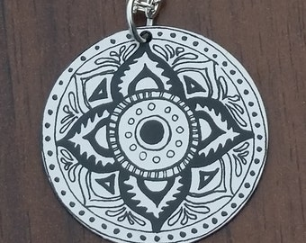 """Lotus Flower Necklace with 18"""" silver chain"""