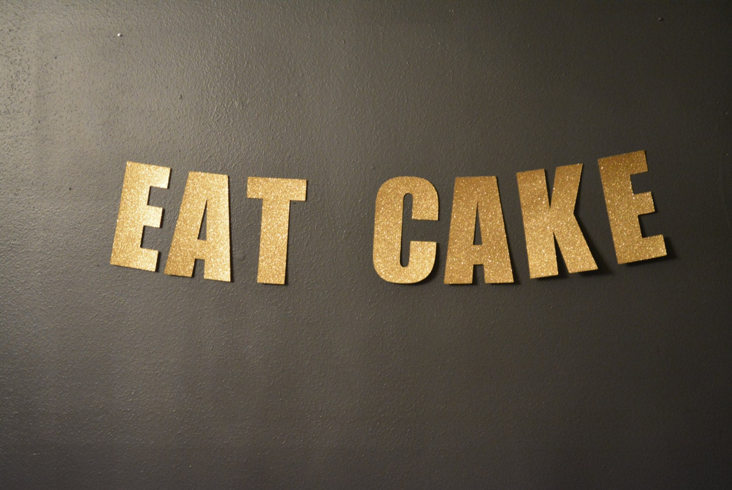 Diy Wedding Word Banners: EAT CAKE Glitter Gold Wedding Word Banner Perfect For Your