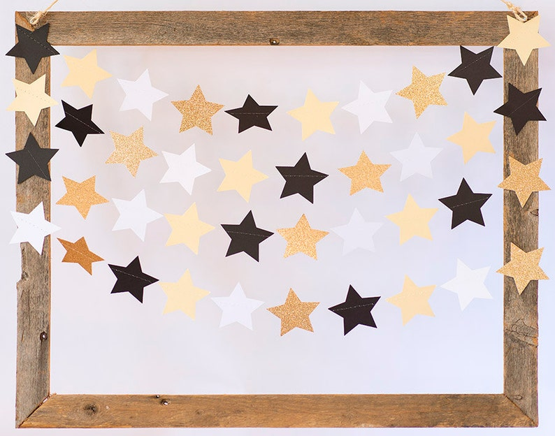 Twinkle Twinkle Gold Glitter Shimmer Gold Black and White image 0