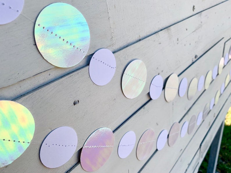 Gorgeous IRIDESCENT HOLOGRAPHIC Garland True IRIDESCENT image 0
