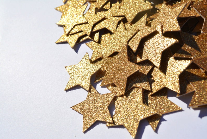 Gold Glittery Star Confetti Party Table Decor for Twinkle image 0