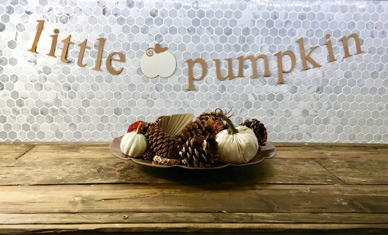 Gorgeous LITTLE PUMPKIN Banner Perfect for FALL For Baby image 0