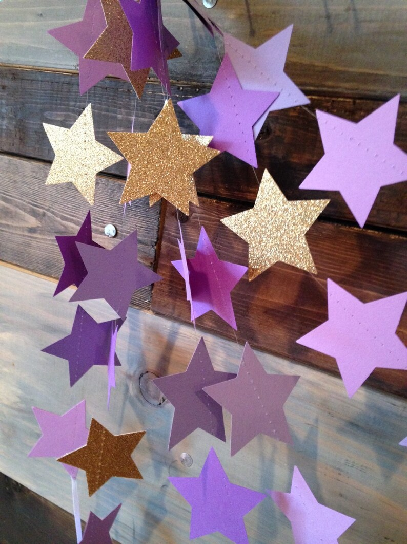 Twinkle Twinkle Gold Glitter and Purple Ombre Glittery image 0