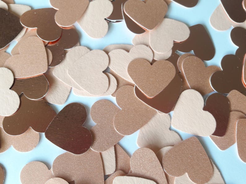 Jumbo ROSE GOLD and PEACH Heart Confetti Perfect for your image 0