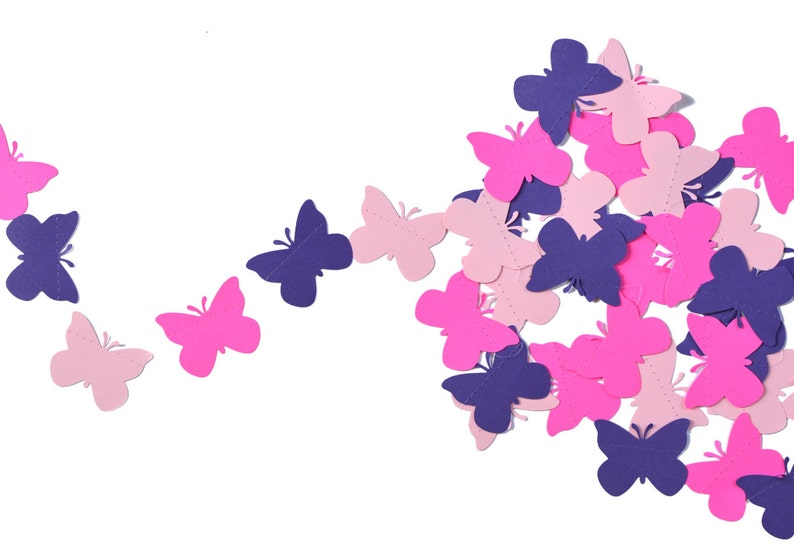 Butterfly Party Garland in Pink and Purple Perfect for image 0