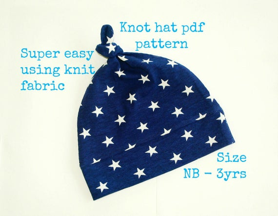 Knot hat pattern S130 Baby hat sewing pattern Sewing pdf  9d9a41fcd9b