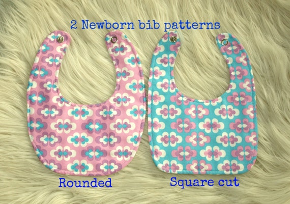 Newborn bib pattern (S128), Baby pattern, Baby bibs, Baby patterns ...