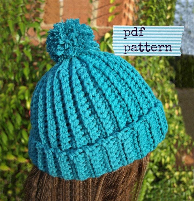 Crochet Beanie PATTERN Crochet hat pattern Easy crochet  42766522b83