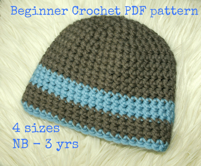 Hat Crochet Pattern Newborn Pattern Boys Hat Pattern Baby Etsy
