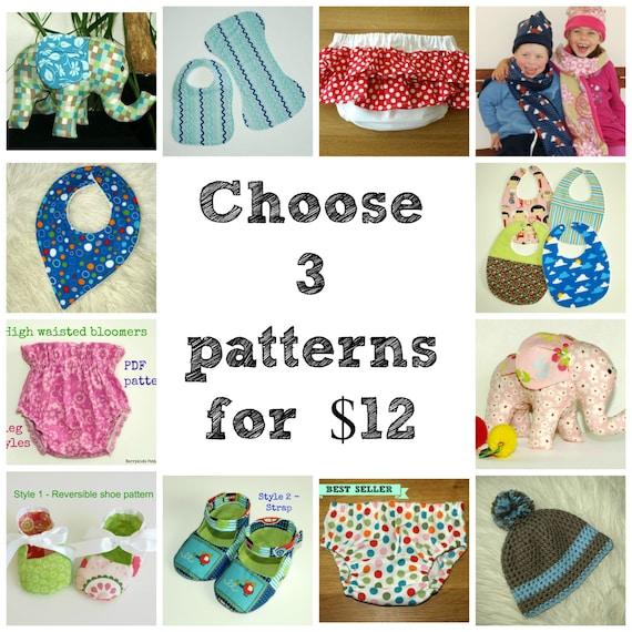 Baby Pattern Newborn Pattern Bib Sewing Pattern Baby Shoe Etsy