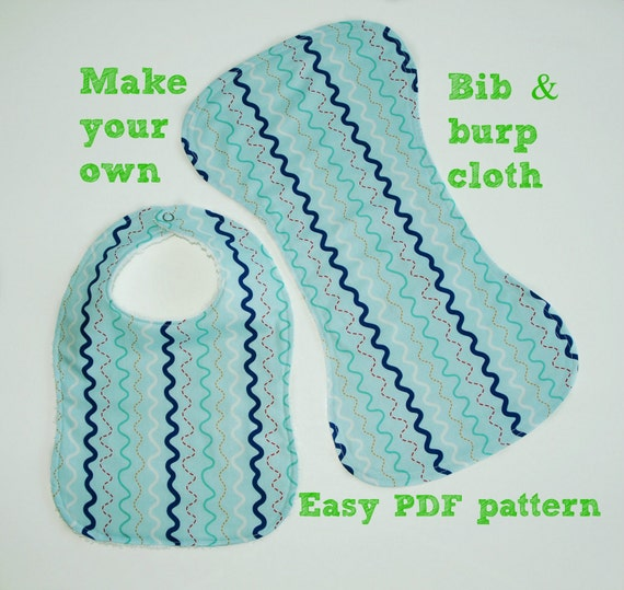 Bib And Burp Cloth Pattern S116 Baby Sewing Pattern Infant Etsy