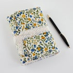 Handmade Book in Vintage Floral Fabric - Handbound Journal Notebook with Blank Pages - Gift for Women