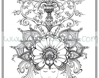 Popular Items For Sheets Anti Stress 91 Results Printable Mandala Colouring Book