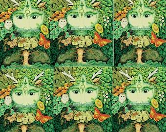 Full Colour Forest God Green Man Winter Yule Wall Art sticker