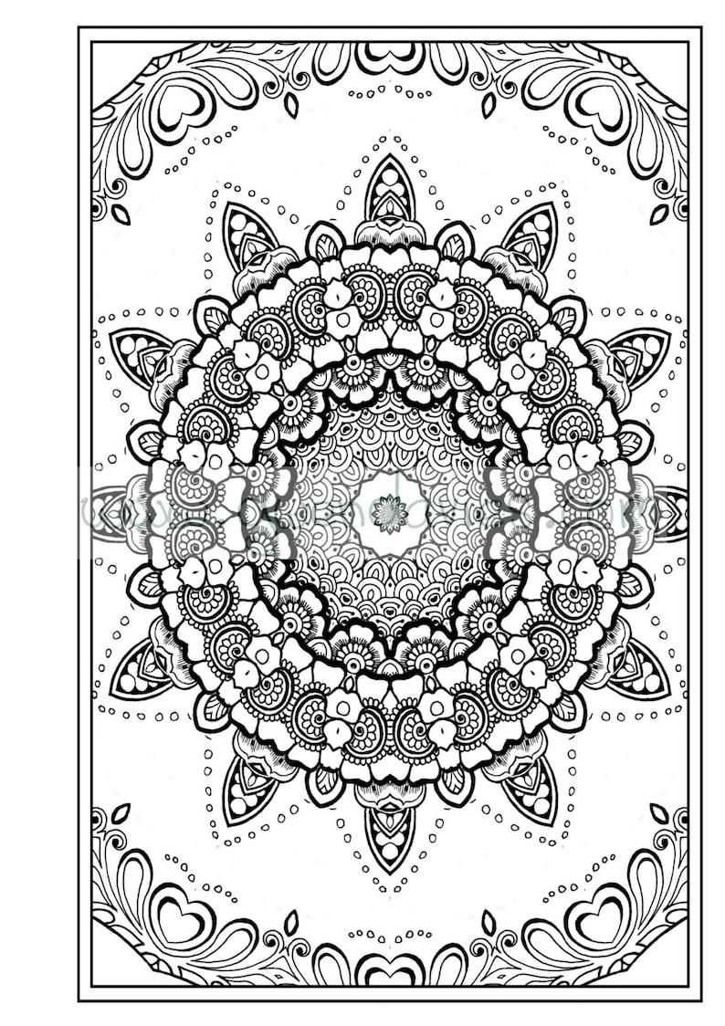 Adult Colouring In Pdf Download Zen Mandalas Garden Anti -3300