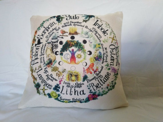Set of Scatter cushion covers Hare stylish home decor scatter Pagan Wicca