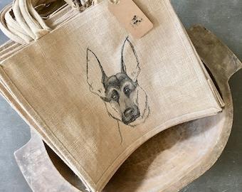 GERMAN SHEPHERD TOTE,GermanShepherd Bag,German Shepherd Dog,German Shepherd Dogs,Shepherd Dog Tote,Shepherd Burlap Tote,Shepherd Beach Bag