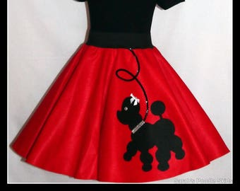 "My Beautiful Ruby Red ""Prancing"" Poodle skirt  made in Your Choice of Size and Poodle Color! Baby-Toddler,Girls,Adult!"