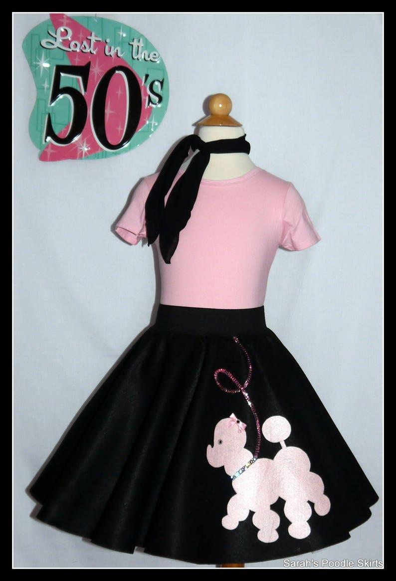 "Neon Pink FELT 50s Poodle Skirt /_ Adult Size MEDIUM /_ Waist 30/""-37/"" /_ Length 25/"""