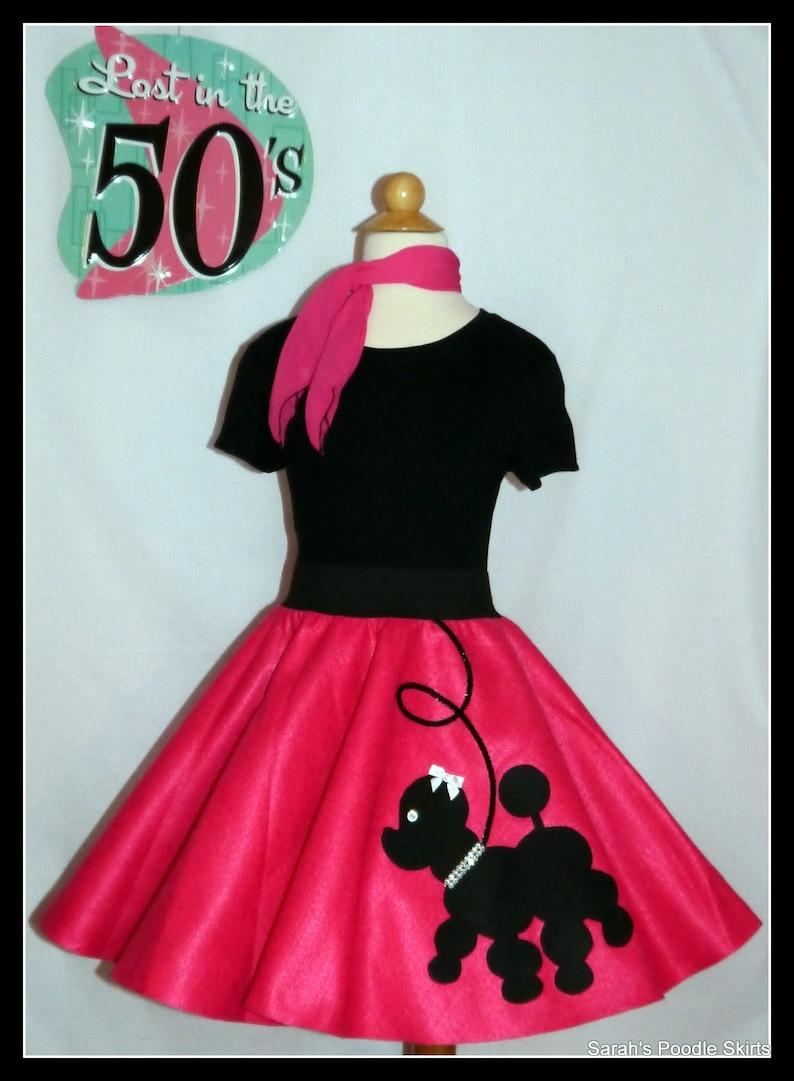 98383b0f10e6b My Beautiful Hot pink Prancing Poodle skirt made | Etsy