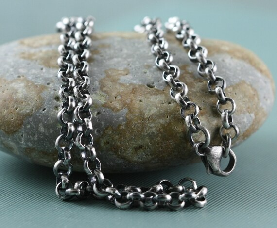 3addc082ca20 Heavy Sterling Silver Chain Necklace Mens Womens Unisex