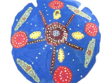 Grace Mandala Painted Sand Dollar, Mandala Sand Dollar