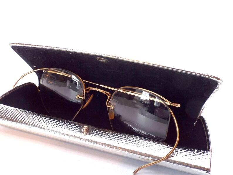 58ed186b8232 Vintage AO Eyeglasses 1 12 10kGF Etched Curved Temple Half