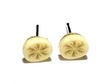 Banana Earrings, Fruit Earrings, Bananas, Food Jewelry, Gift, Under 5 dollars, Kawaii, Gift for Her, Tiny Earrings, Stud Earrings,