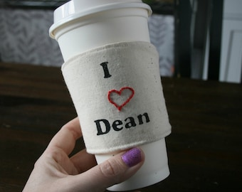 Reversable I heart Sam . . . or maybe Dean cozy.