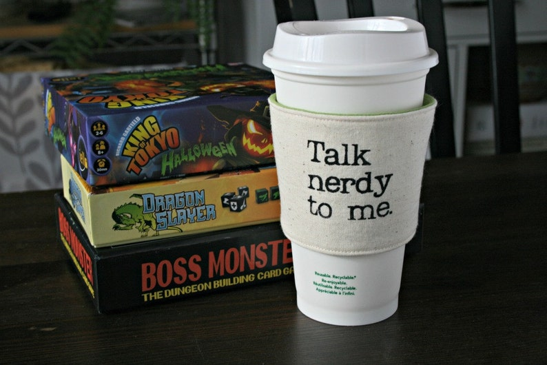 Talk Nerdy to Me cup cozy image 0