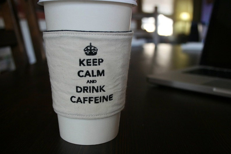 Keep calm cup cozy image 0