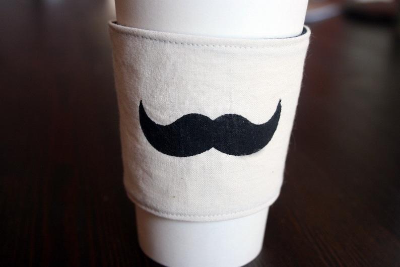 Moustache cup cozy image 0