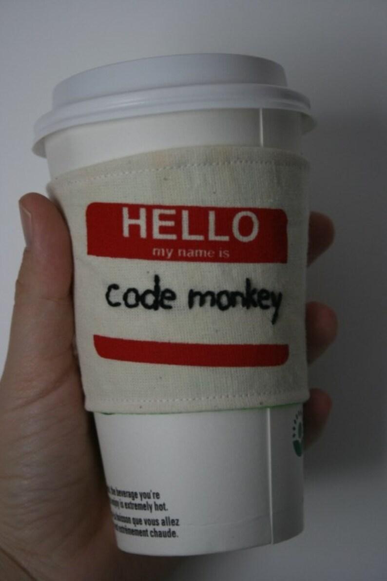 Code Monkey's cup sleeve image 0