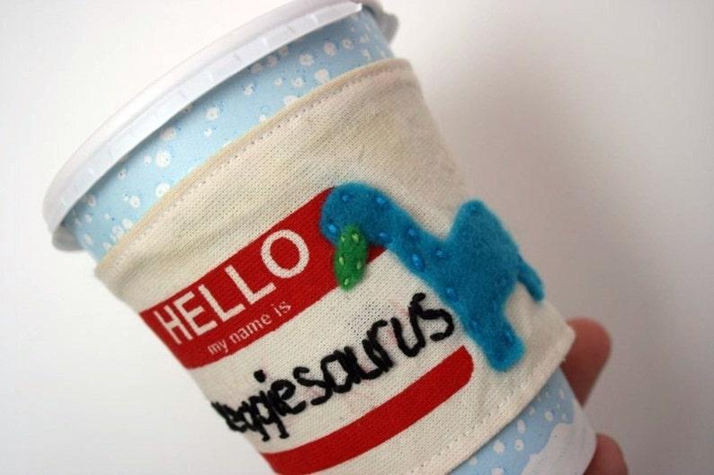 Veggiesaurus cup cozy image 0