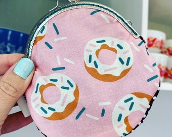 Donuts and sprinkles coin purse