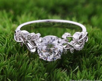 Music Lover  - Diamond Engagement Ring - Beautiful Petra rings - 14k 18k Platinum - BP047 - Patent Pending