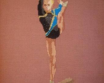Gymnast Cross-Stitch Mariya Livichkova UKR