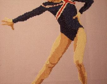 Gymnast Cross-Stitch Gabrielle Jupp GBR